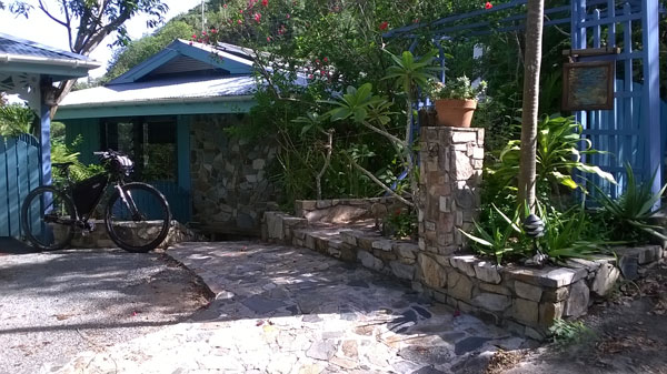 Electric biking to the Stone Garden Cottage in Coral Bay, St John USVI